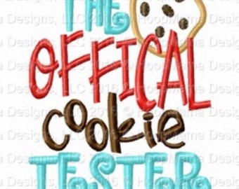 The official cookie tester - Holiday applique shirt - Christmas shirt - applique design -monogram shirt - Christmas