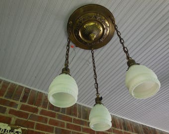 Antique Chandelier 1896 Neoclassical Light fixture