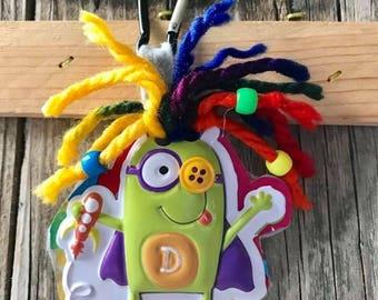 Bookbag, Backpack Clip, Zipper Pull, Monster