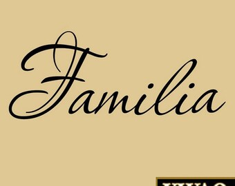 Familia Wall Decal Wall Family Wall Quote Home Decor Wall Art Wall Sticker VWAQ-123