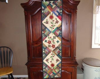 Long Flying Geese Runner,Applique Runner, Country Runner 0312-02