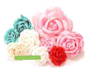 Artificial Rose Flowers for Floral Wall Backdrop and Wedding Decorations