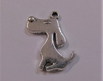21mm Silver Toned Dog Charms, 5CT. Y10
