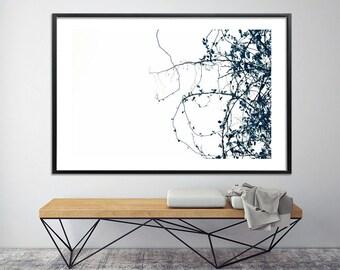Canvas art botanical art Large wall art Print up to 40X60 botanical art nature prints, minimalist modern poster by Duealberi