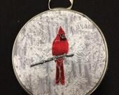 Cardinal hoop art