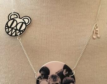 Silver Plated Handmade Radiohead Bear Necklace