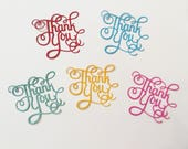 5 Thank You, Handmade, Shiny Blue, Blue, Yellow, Red, Pink, Sizzix, Cards, Scrapbooking,