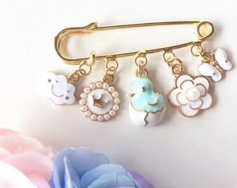 Baby Pin, Baby Jewelry, Stroller Pin Brooch Newborn Baby Shower Gift