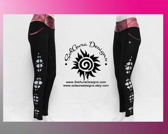 SWEET LEGS -  Womens/ Junior Non-See Through High Waist Black Leggings  Cut and Weaved Black Yoga Leggings Small, Medium, Large L-3001