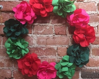 """Contemporary Christmas Wreath Large 21"""""""