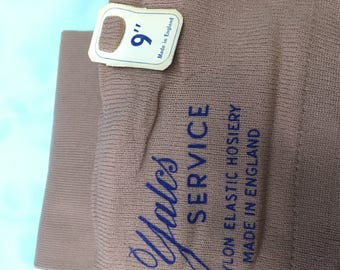 1960s Yales Service Nylon Elastic Hosiery Stockings