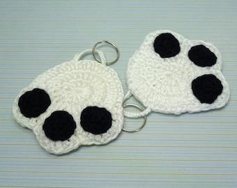 Crochet keychain dog paw, crochet dog paw, dog paw keychain, keychain, amigurumi, handmade, crochet keychain, dog paw, white dog paw