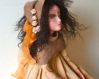 OOAK doll Art doll Ooak art doll Paperclay doll Handmade doll Collectible doll Air dry clay doll Decorative doll Interior doll Sculpted doll