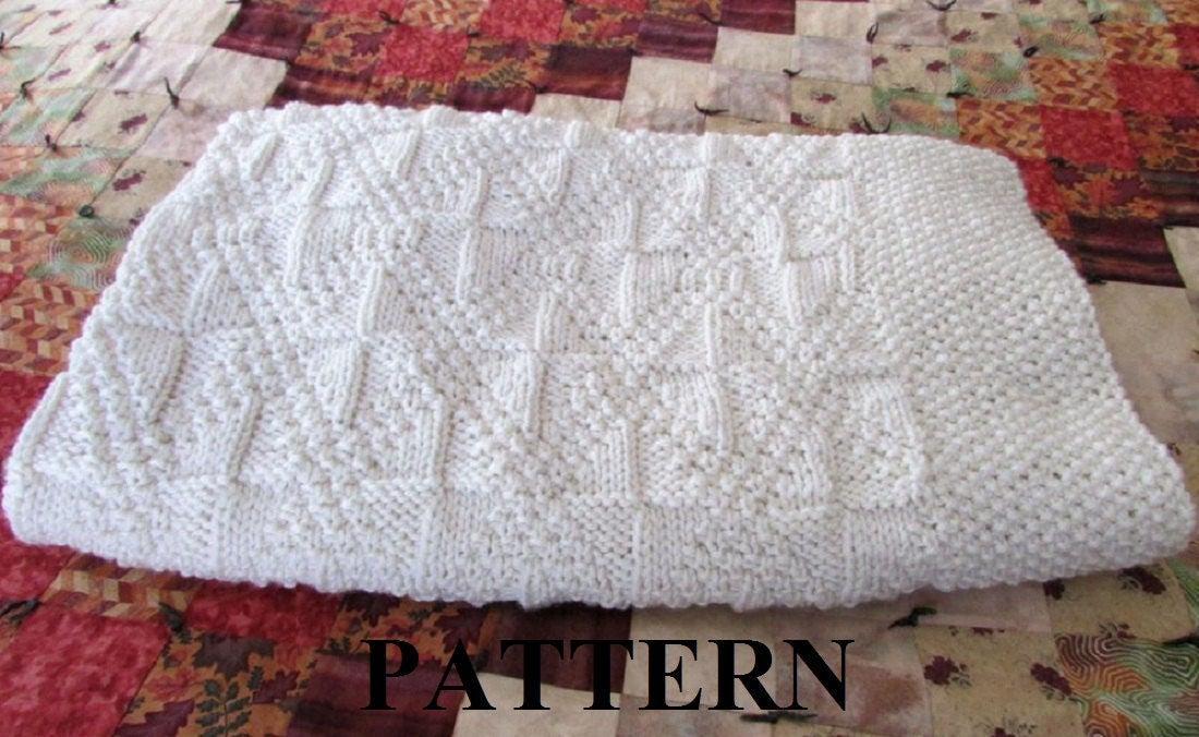 Knit Baby Blanket Pattern, Baby Blanket Pattern, Knitting Pattern Blanket, Kn...