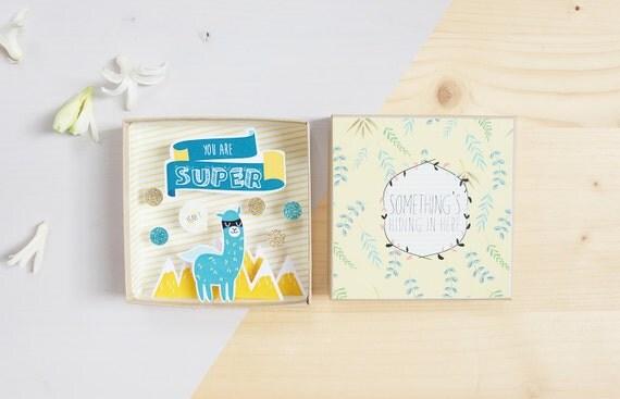 You are super big message box  / Miniature Art / Diorama / 3d Art / Decorative Matchbox / Miniature paper diorama / Friend message