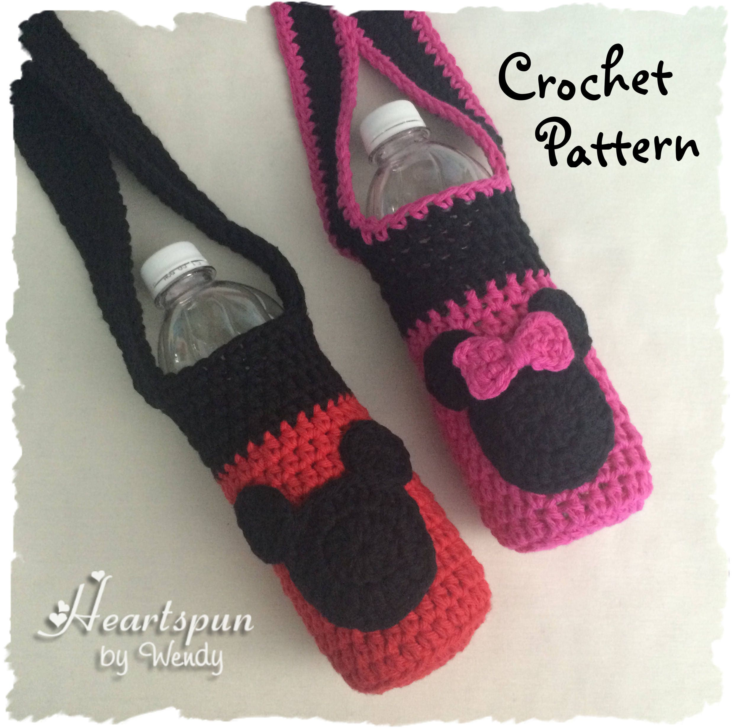 Crochet pattern to make a mickey mouse minnie mouse drink this is a digital file bankloansurffo Choice Image