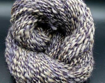 HSY103 Purple Rose of Texas is a Handspun Huacaya Alpaca Two Ply Art Yarn