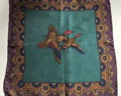 Hugo Boss Vintage Silk Pocket Square Flying Duck Never Been Worn