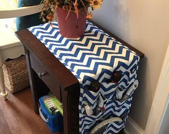64 Inch Dorm Room Table Runner Pocket Organizer Nightstand Fridge Refrigerator Storage High School Graduation College Gift Idea