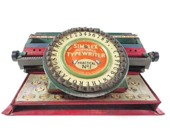 Mid Century Simplex Metal Typewriter - Simplex Typewriter