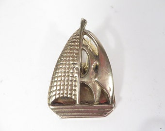 Vintage Brass Ship Clip - Brass Ship Paper Clip