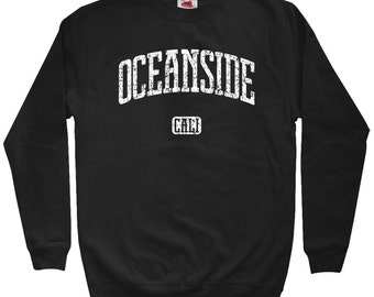Oceanside California Sweatshirt - Men S M L XL 2x 3x - Oceanside Crewneck, Gift For Men, Her, Surfing Sweater, San Diego County, Carlsbad
