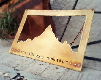 She Will Move Mountains Wall Hanging - Mountain Home Decor