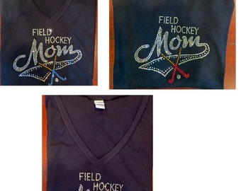 Field Hockey Mom Tops-  Rhinestones