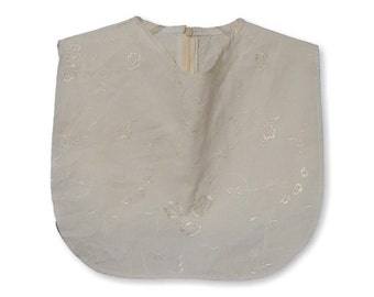 Ivory Embroidered Corduroy Slight Cowl Dickey