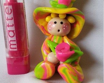 fairy troll, Mini garden accessories, polymer clay miniature, colorful mini pixie