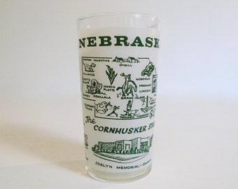 Nebraska - Souvenir Drinking Glass - Anchor Hocking - Floyd Jones Vintage