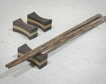 Set of 3 Wooden Chopstick Rests