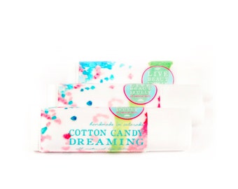 SUMMER SALE - Cotton Candy Dreaming Lip Balm - All Natural - Sweet Sugar Fruit Candy