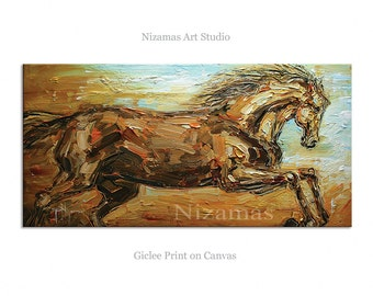 Abstract Art Giclee Print on canvas Interior Decor P Nizamas Run with the Wind ready to hang