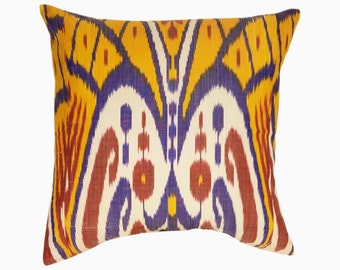 Ikat Pillow, Ikat Pillow Cover 506-2aa3, Ikat throw pillows, Designer pillows, Decorative pillows, Accent pillows