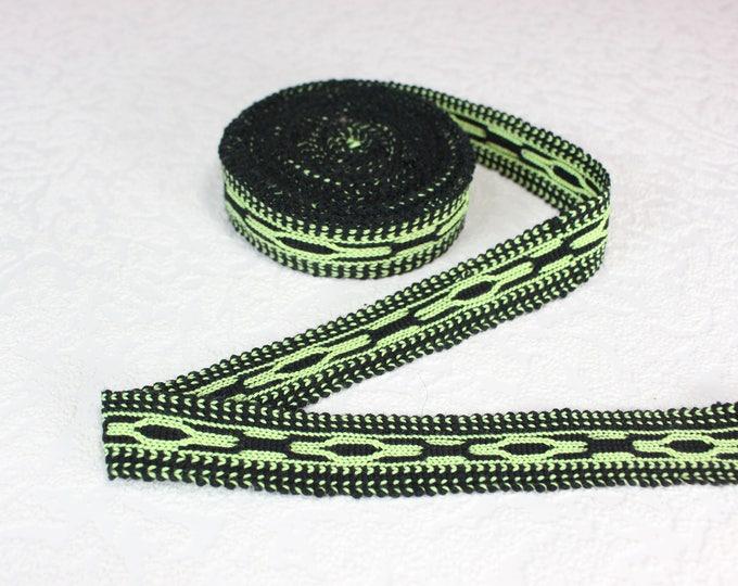 Woven Trim (6 yards), Woven Border, Cotton Ribbon, Grosgrain Ribbon, Dress Border, Border Trim, Ikat Fabric, R288