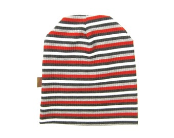 Toddler Beanie, Slouchy Beanie, Boys Hats, Children Clothing, Stripe Beanie, Baby Beanie, Infant Hat,Boy Gift,Under 20 Dollars,Ready to Ship
