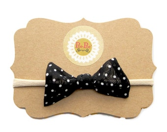 Polka Dot Hairband, Toddler Headband, Nylon Baby Headband, Infant Hairband, Baby Hairband, Toddler Bow Clip, Gift for Infant, Ready To Ship