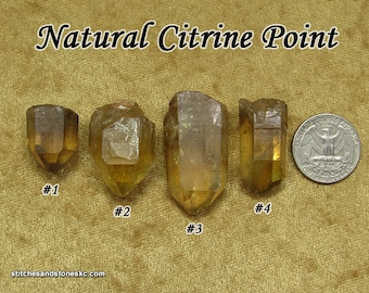 Citrine NATURAL stone point for crystal healing