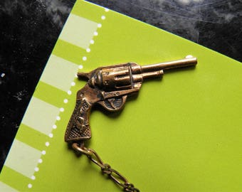 Charm Brooch, Pin, Texas With Gun That Goes in and Out of Holster and More.