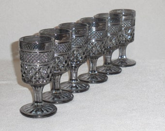 Wexford-Smoke Wine Glasses by Anchor Hocking