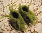 Baby fuzzy furry  green slippers  request your size 1-5