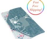 Deer Wallet, Envelope Clutch, Budget Envelopes, Budget Wallet, Cash Envelope System, Fabric Envelope, Simple Wallet,