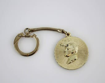 Vintage JFK Key Chain FOB - Ask Not What Your Country Can Do For You - President John F Kennedy Memorabilia 1917 - 1963