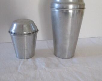 Aluminum Malted Milk Shaker - Ovaltine Malted Milk Shaker - Hemo Thompson's Malted Milk Shaker