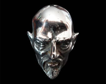 Stainless Steel Anton Lavey The Pope of the Church of Satan Ring - Size 14 - Instock/Free Shipping