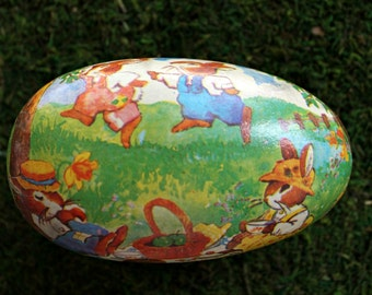 vintage paper mache Easter egg from West Germany