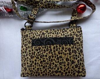 Adult Crossbody Bag: Leopard