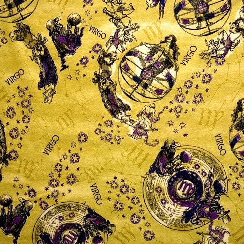 Virgo new dawn virgo horoscope fabric virgo fabric for Astrology fabric