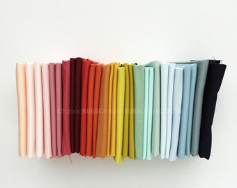Pond KONA coordinates by Elizabeth Hartman for Robert Kaufman Fabrics, COMPLETE